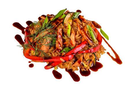 Тепаньяки с курицей и овощами