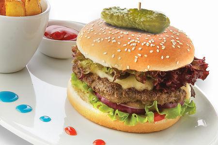 Королевский микс бургер с говядиной