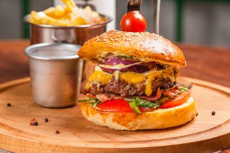 Бургер с рубленой котлетой из говядины
