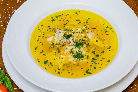 Куриный суп с домашней лашой