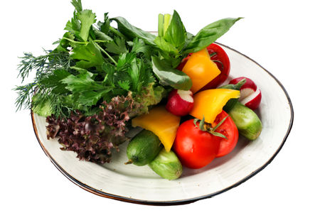 Бакинские овощи с зеленью