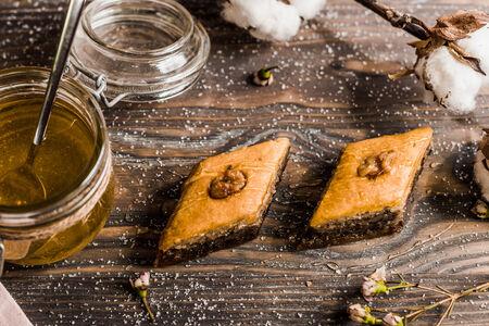 Пахлава с медом и грецким орехом