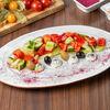 Фото к позиции меню Салат Греческий с сырным кремом