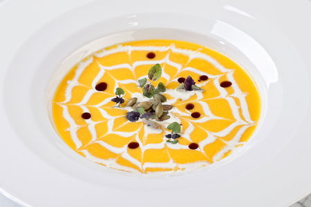 Крем-суп из запеченной тыквы
