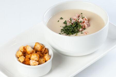 Крем-суп Картофельный с копченой курицей