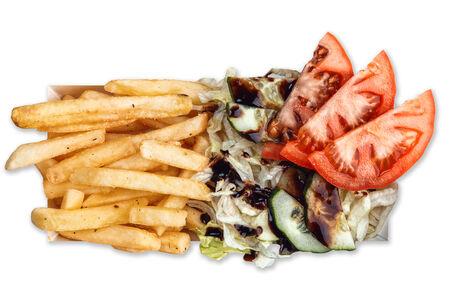 Бокстер Грин с салатом айсберг и картофелем фри