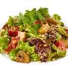Фото к позиции меню Теплый салат из овощей с грибами и кедровыми орешками