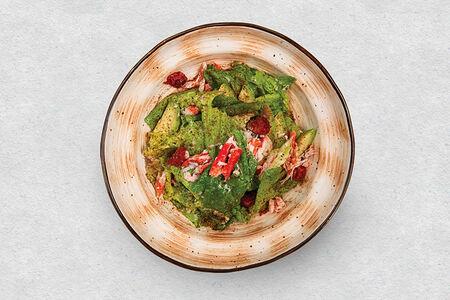 Мятный салат с камчатским крабом