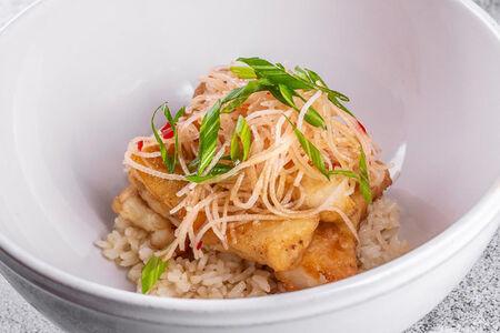 Треска с рисом и дайконом