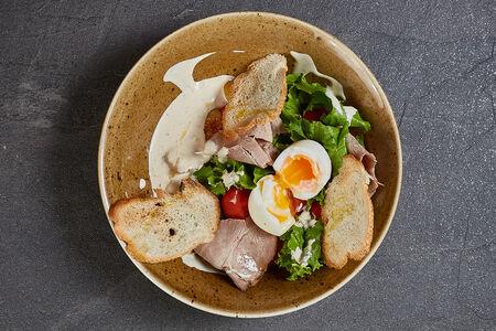 Салат с бужениной и печеным картофелем