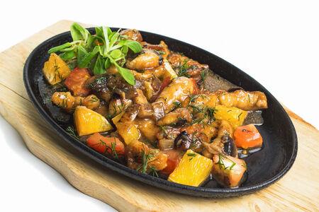 Горячий куриный салат