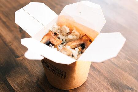 Ризотто курица и грибы