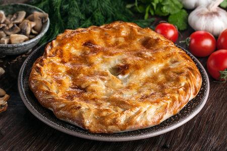 Мини дагестанский пирог с курицей и грибами
