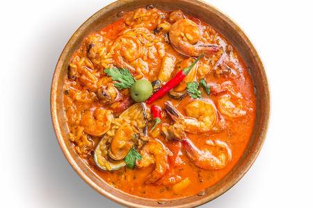 Катаплана с рисом и морепродуктами