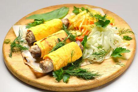 Люля-кебаб из курицы в лаваше