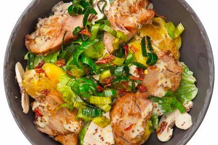 Салат с печеной телятиной