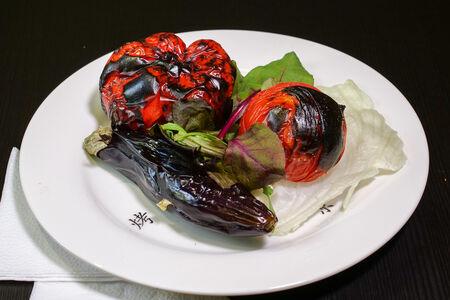 Овощи печеные на углях