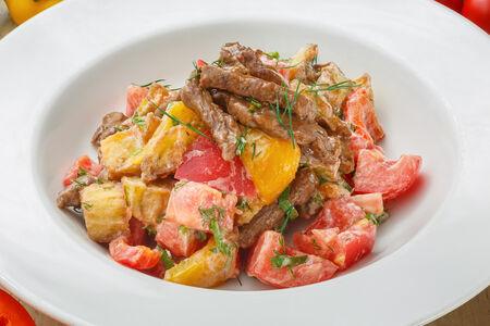 Салат теплый Батуми