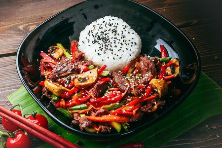Филе говядины в соусе Шанхай