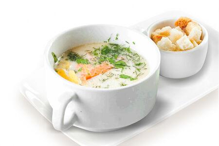 Финский суп с копченым лососем