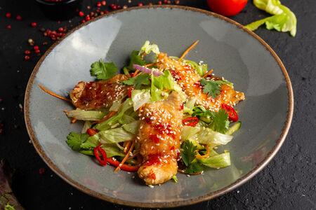 Салат с глазированным цыпленком