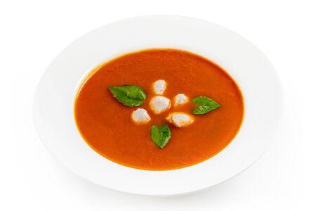 Крем-суп Томатный с сыром страчателла