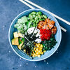Фото к позиции меню Поке с лососем на рисе
