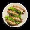 Фото к позиции меню Клаб сэндвич с копченым лососем и яйцом