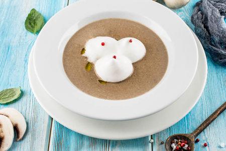 Крем-суп капучино из грибов