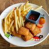 Фото к позиции меню Рыбные наггетсы с картофелем фри