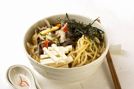 Суп Мисо-рамэн с овощами
