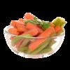 Фото к позиции меню Снэк Морковь и сельдерей