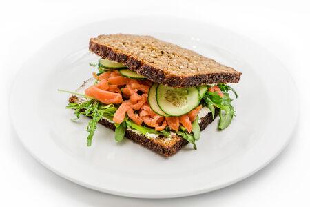 Сэндвич Кельтский с копчёным лососем