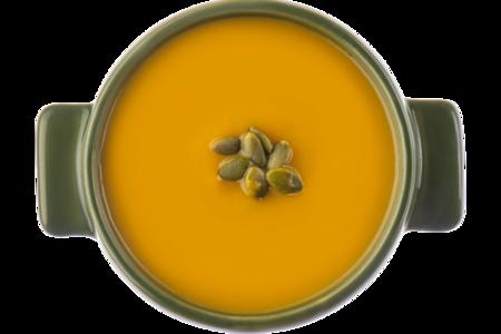 Суп-пюре из тыквы с семечками