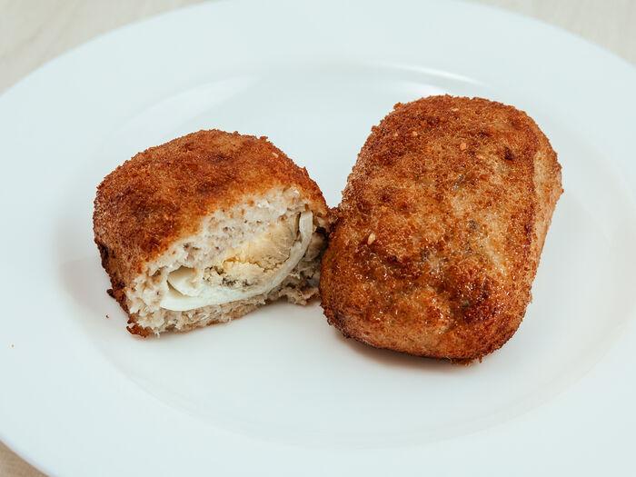 Рыбная зраза с яйцом