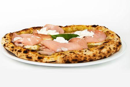 Пицца с мортаделлой и фисташковым соусом