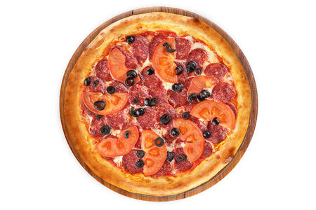Пицца Дабл Пепперони на пышном тесте