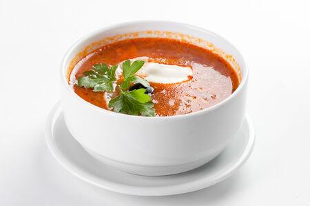 Суп Солянка со сметаной
