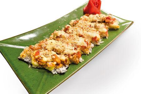 Японская пицца с креветкой