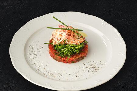 Салат Нежный краб на томатах