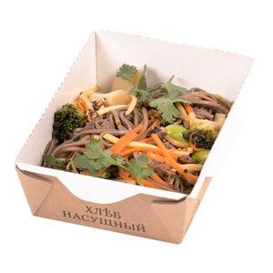 Соба вегетарианская с овощами «Хлеб насущный»