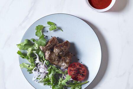 Шаш-кебаб из говядины по-кавказски