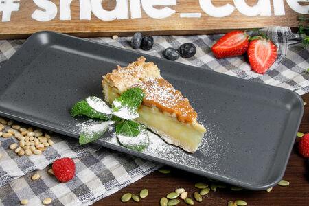 Пирог яблочно-карамельный