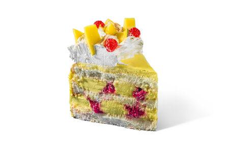 Торт Манго-малина