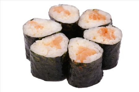 Мини роллы с лососем
