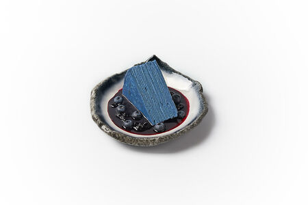 Японский торт с синим чаем матча