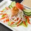 Фото к позиции меню Салат с копченым лососем