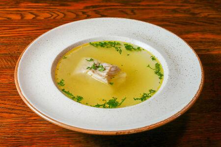 Суп Консоме рыбный со спинкой трески