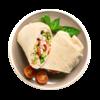 Фото к позиции меню Лаваш с курицей и мягким сыром