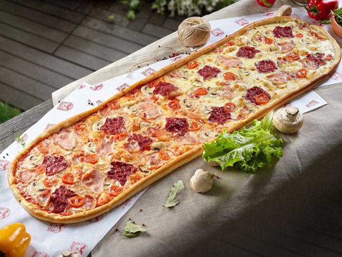 Метровая пицца Мясное ассорти
